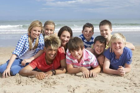 Teenagers together photo