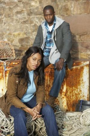 disharmony: Unhappy couple Stock Photo