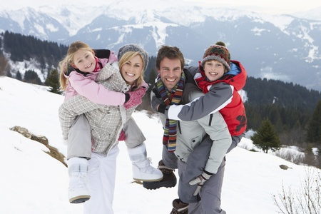 Young Family On Winter Vacation photo