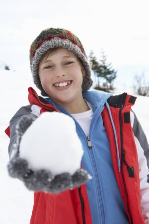 boy 12 year old: Pre-teen Boy On Winter Vacation