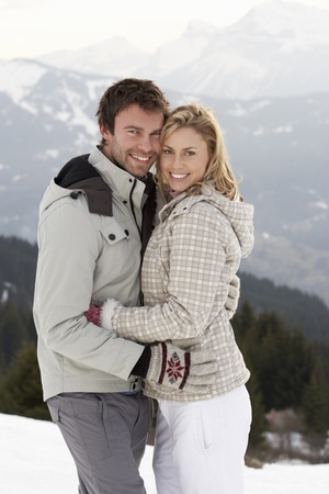 Young Couple On Winter Vacation photo