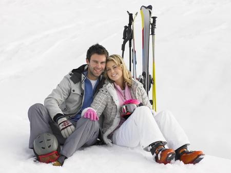Young Couple On Ski Vacation photo