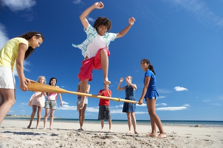Teenagers having fun on beach Stock Photo - 11246772