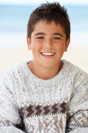 good looking boy: Portrait teenage boy outdoors Stock Photo