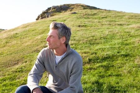 gaze: Man in landschap