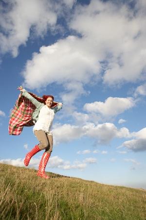 wellington: Woman in countryside