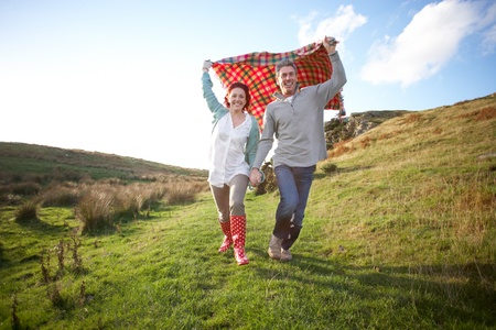 wellington: Couple in countryside