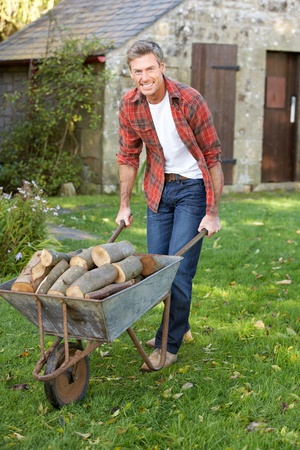Man working in country garden Stock Photo - 11246919