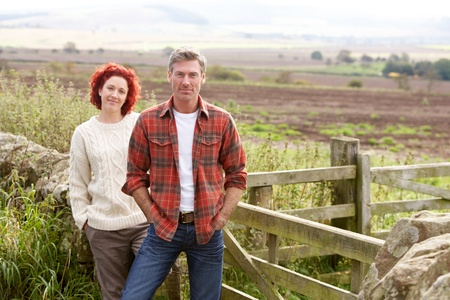 Couple in countryside photo