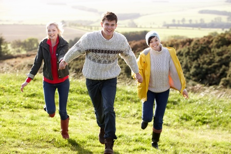 19 year old boy: Young friends on country walk