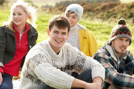 late teens: Young couples in the country Stock Photo