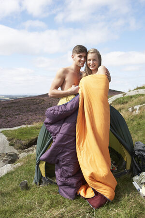 17 year old: Young Couple On Camping Trip In Countryside