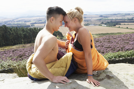 Romantic Young Couple On Camping Holiday photo