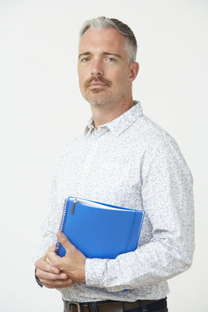 pre schooler: Studio Portrait Of Male Pre School Teacher