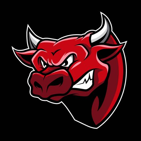 Bull Head Mascot Vector Stockfoto - 91423862