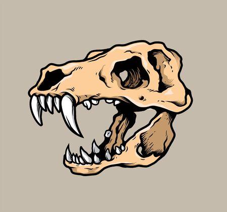 T-Rex Skull Head Vector Stock fotó - 91423874