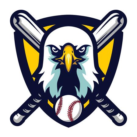 Modern Professional Eagle Baseball Team Logo Badge Illustration