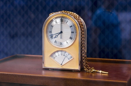 Expensive table golden clock Banco de Imagens