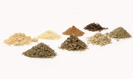 set of fragrant spices for cooking photo