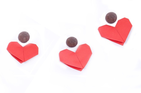 Chocolate and hearts for Valentine s Day Stock Photo - 17345663
