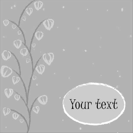 lonely winter tree with the form under the text Stock Vector - 18213280