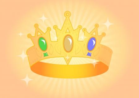 beautiful crown with brilliant semi-precious stones Stock Vector - 18365983