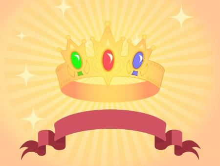 substrate: beautiful crown with brilliant semi-precious stones