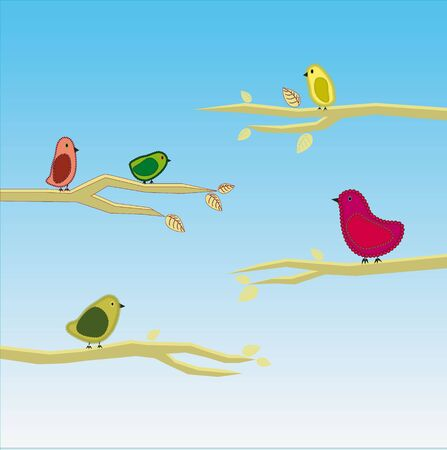 vector bird set 5 Stock Vector - 18399419