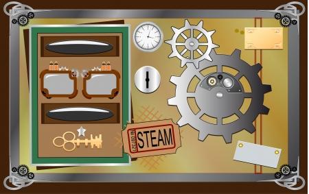 substrate: stim-punk design element Illustration