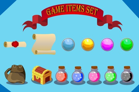rpg: game items set