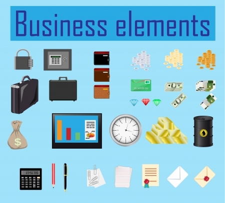 set of business elements Stock Vector - 18974294