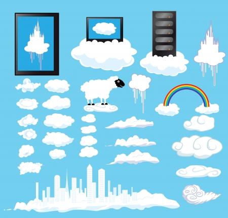 set of cloudsset of clouds