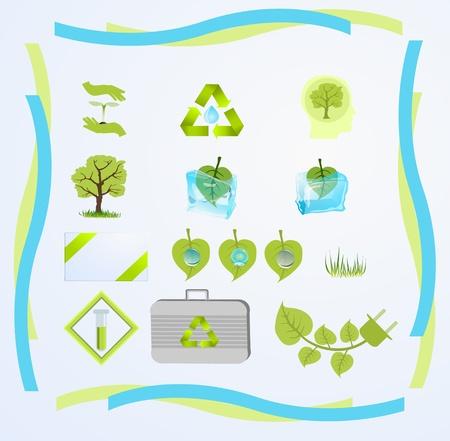 evaporacion: conjunto de iconos para las tecnologías verdes