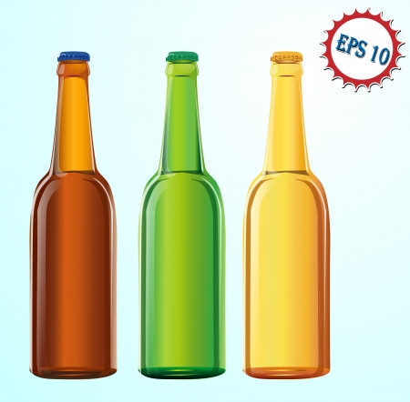 brewage: three bottles with beer