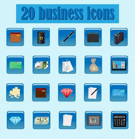 ingots: set of icon business Illustration