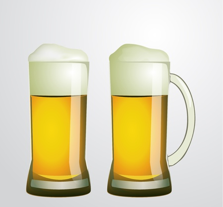 two vector glasses of beer Illustration