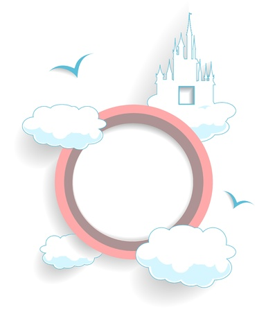 abstract cloudy circle vector Stock Vector - 19490632