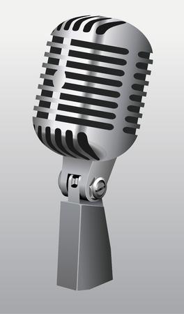Vintage Microphone vector Vector