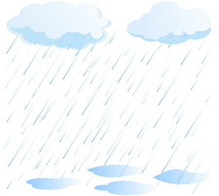 vecteur de pluie