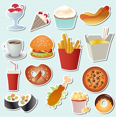 food set vector Stock Vector - 19490646