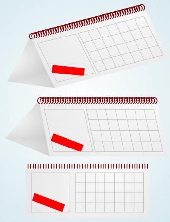 desktop calendar  illustration  Vector