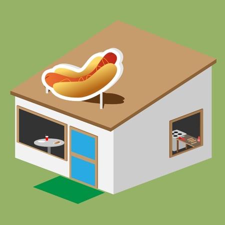hotdog stand Stock Vector - 19655598