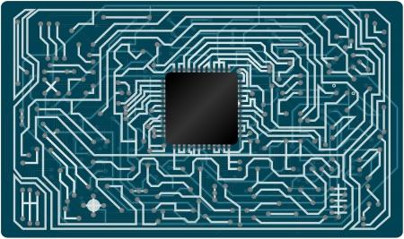 circuitry: Vector electronic circuit board  Illustration