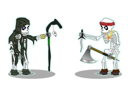 skeletons vector Vector