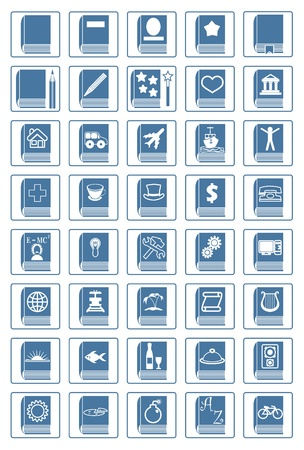 genres: library icon set