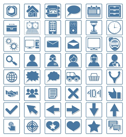 Icon web set vector Stock Vector - 20758211