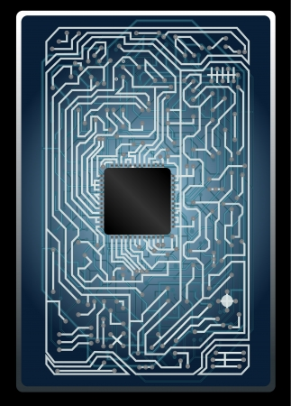 pcb: Vector electronic circuit board Illustration