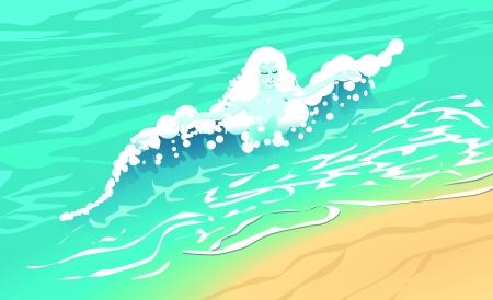 undine: wave lady vector