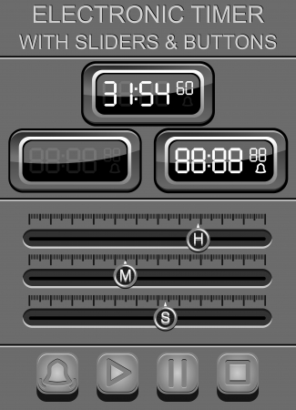 sliders: electronic timer with sliders and buttons