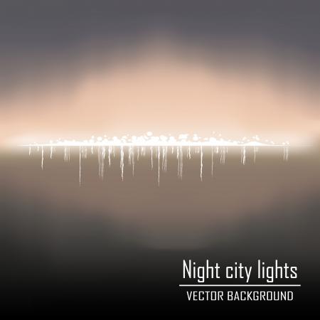 city lights: night city lights background vector